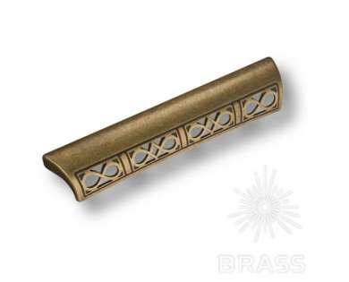 Ручка-скоба современная классика, античная бронза 128 мм