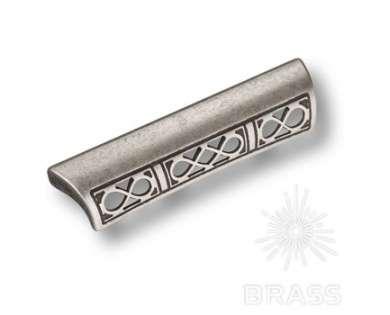 Ручка-скоба современная классика, античное серебро 96 мм