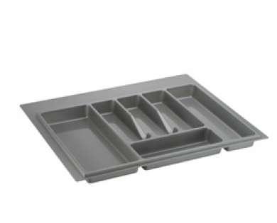 Лоток для столовых приборов серый 600 мм